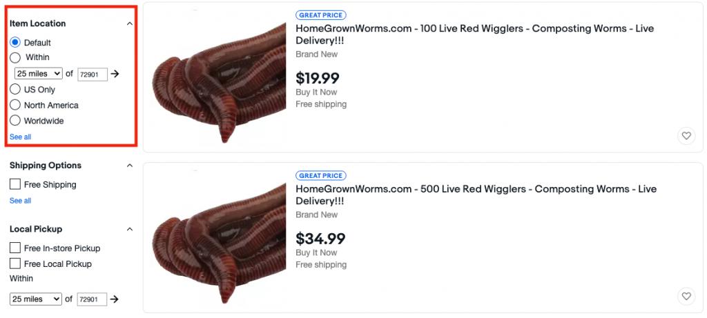 Composting worms Ebay