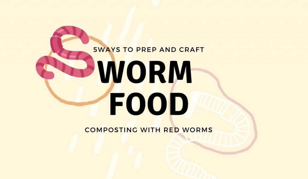 5 ways to prep worm food