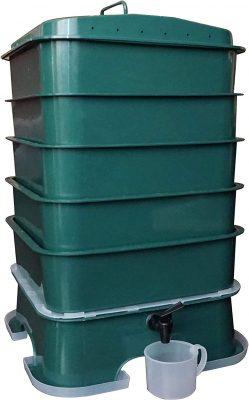 VermiHut Plus 5-Tray Worm Compost Bin Fully Assembled